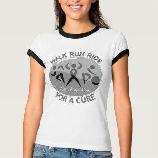 Brain Cancer Walk Run Ride For A Cure Tee Shirts