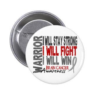 Brain Cancer Warrior 6 Cm Round Badge