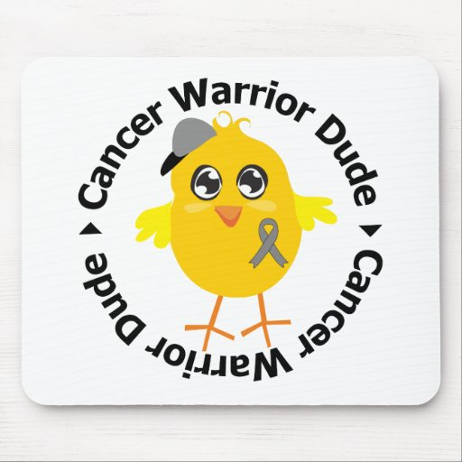 Brain Cancer Warrior Dude Mouse Pads