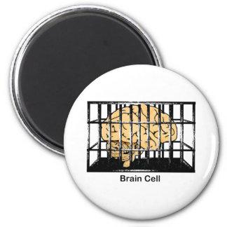 Brain Cell 6 Cm Round Magnet
