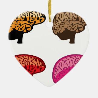 Brain Ceramic Heart Decoration