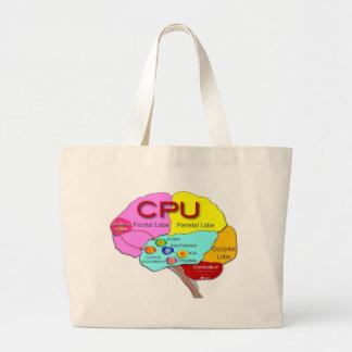 Brain CPU light Tote Bag