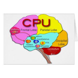 Brain CPU light Card