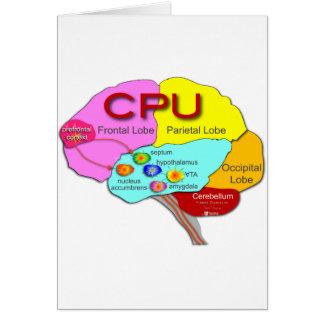Brain CPU light Greeting Card