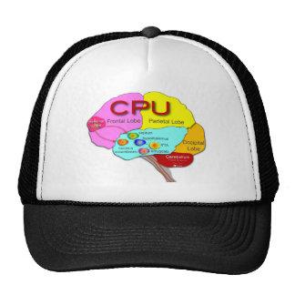 Brain CPU light Mesh Hats
