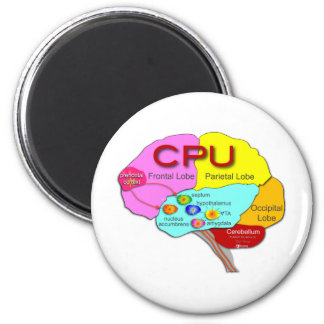 Brain CPU light Fridge Magnet