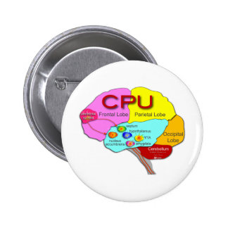 Brain CPU light Pinback Buttons