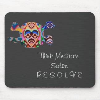Brain Dead Skull - Meditate Resolve Mouse Pad