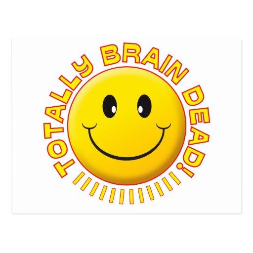 Brain Dead Smiley Post Card