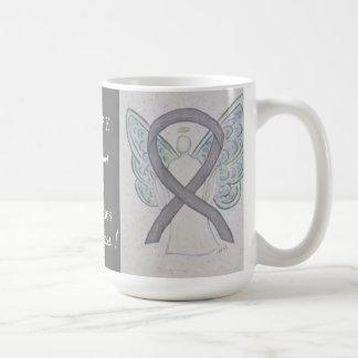 Brain Disabilities Awareness Ribbon Angel Mug