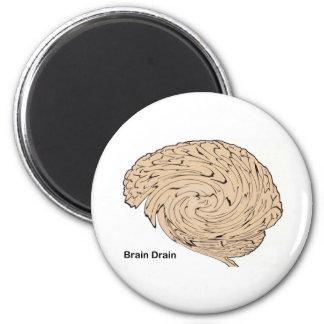 Brain Drain 6 Cm Round Magnet