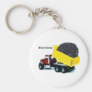 Brain Dump Basic Round Button Key Ring