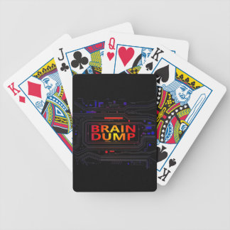 Brain dump concept. bicycle playing cards