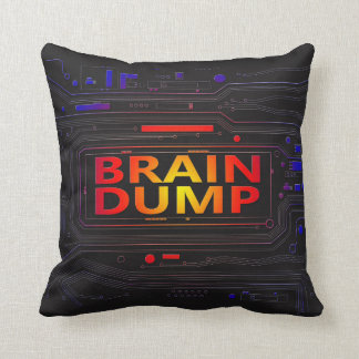 Brain dump concept. cushion