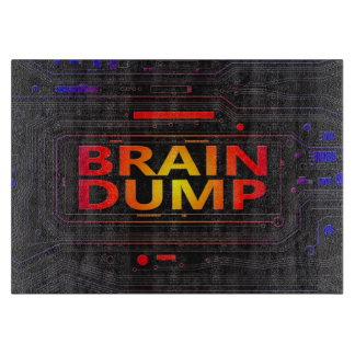 Brain dump concept. cutting board