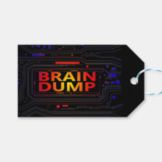 Brain dump concept. gift tags