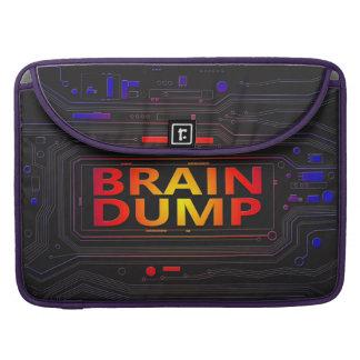 Brain dump concept. sleeve for MacBooks