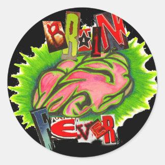 Brain fever logo round sticker