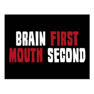 Brain First, Mouth Second Postcard