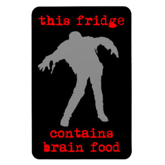 Brain Food Rectangle Magnets