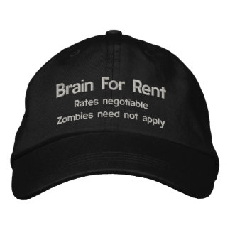 Brain For Rent Zombie Disclaimer Hat Baseball Cap