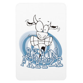Brain Freeze with cow flexible magnet