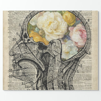 Brain Full Of Flowers,Nature Lover Dictionary Art Wrapping Paper