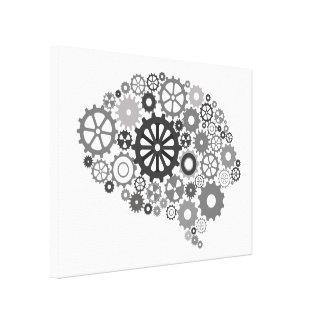 Brain Gears Canvas Print