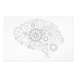 Brain Gears Stationery