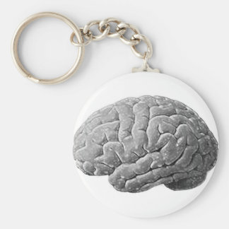 Brain Gifts Basic Round Button Key Ring