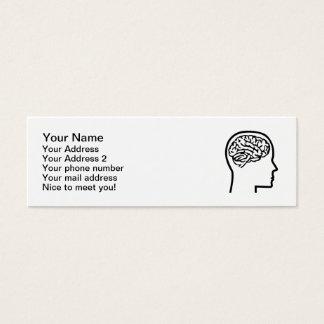 Brain head mini business card