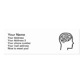 Brain head pack of skinny business cards