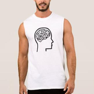 Brain head sleeveless shirts