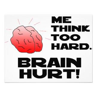 Brain Hurt Black Personalized Invitation