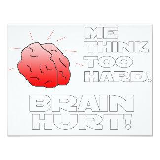 Brain Hurt Black White 11 Cm X 14 Cm Invitation Card