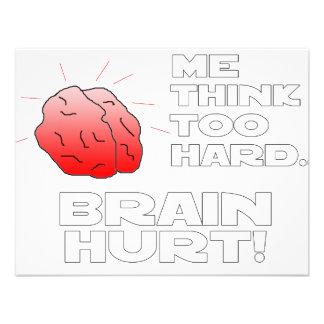 Brain Hurt Black White Invite