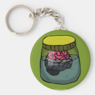 Brain in a vat basic round button key ring