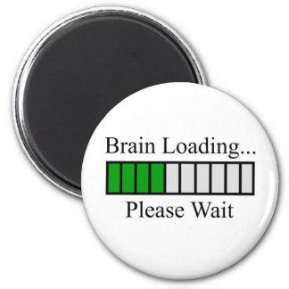 Brain Loading Bar 6 Cm Round Magnet