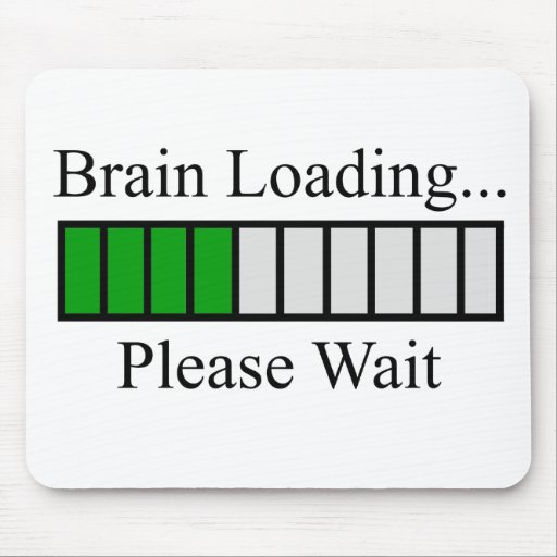 Brain Loading Bar Mouse Pad