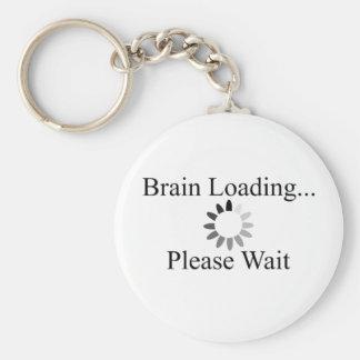 Brain Loading Circle Basic Round Button Key Ring