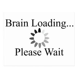 Brain Loading Circle Postcard