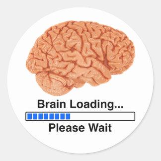 Brain Loading Classic Round Sticker