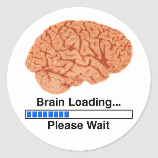 Brain Loading Round Sticker