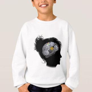 Brain Machine Workings Gears Cogs Woman Sweatshirt