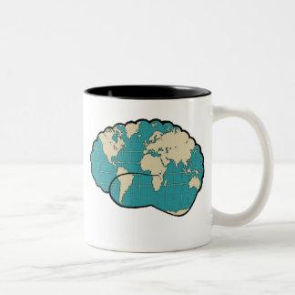 Brain Map of the World Mug