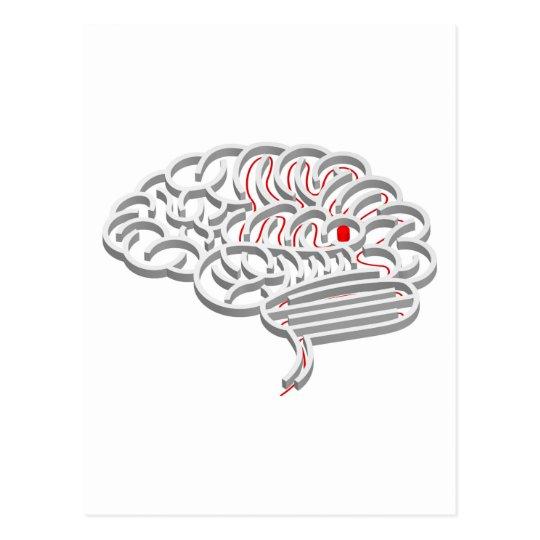 Brain maze concept postcard