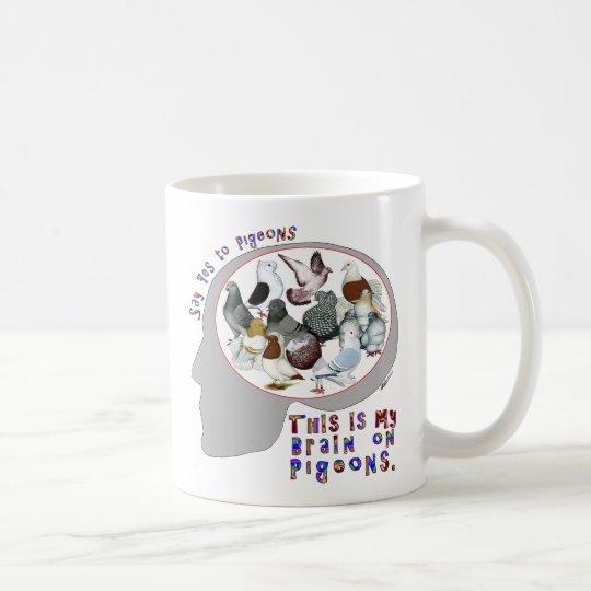 Brain On Pigeons Coffee Mug