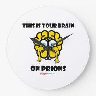 Brain on Prions Large Clock