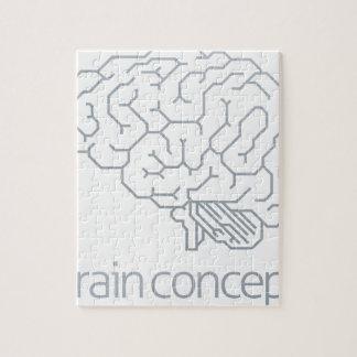 Brain Profile Concept Jigsaw Puzzle