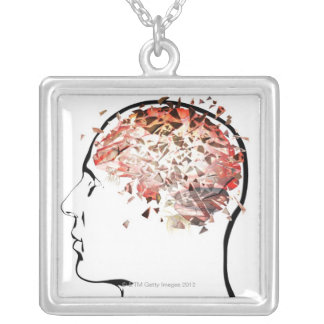 Brain Shattering Silver Plated Necklace